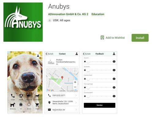 Anubys-App ist erhältlich